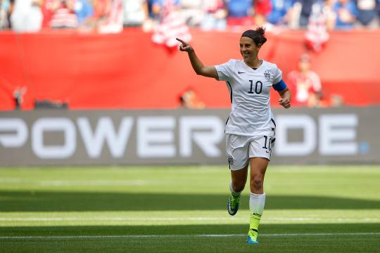 Carli lloyd celebrating
